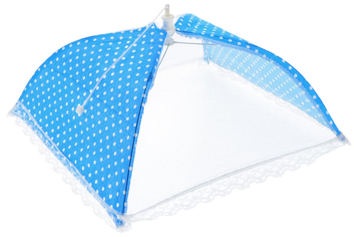 Зонт для продуктов Мультидом Горошек, цвет: голубой, белый, 35 х 35 х 20 см