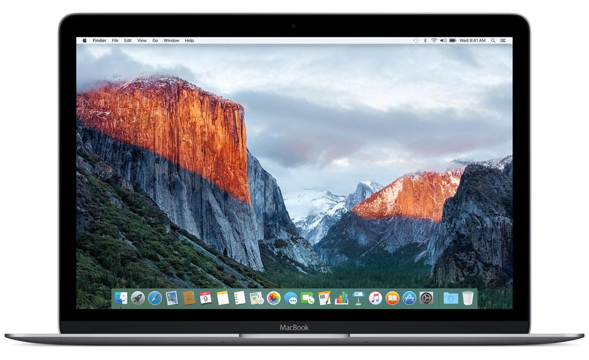 Apple MacBook 12, Space Gray (MLH72RU/A)MLH72RU/AApple MacBook 12 - стильный и инновационный ноутбук будущего. Это легкий и ультратонкий мобильный компьютер с длительным сроком автономной работы и цельным дизайном.Клавиатура обновлена от А до Я.Каждый компонент клавиатуры был спроектирован специально для нового MacBook: основной механизм, форма изгиба клавиш и даже новый уникальный шрифт. В результате клавиатура стала гораздо тоньше, чем все предыдущие. Теперь, когда вы нажимаете на клавишу, она чётко опускается и поднимается без малейших задержек - и ваш текст набирается быстрее и точнее. Новый механизм бабочка представляет собой цельный элемент, изготовленный из более жёстких материалов, с большей площадью опоры. Благодаря этому клавиши стали более устойчивыми, точнее реагируют на нажатия и при этом занимают меньше места по высоте. Эта инновационная технология обеспечивает более чёткую и стабильную работу вне зависимости от того, на какую часть клавиши вы нажимаете.Для нового MacBook были созданы более тонкие клавиши с более широкой поверхностью и глубоким изгибом, чтобы палец точнее попадал в центр и нажатие получалось более естественным. На первый взгляд изменения минимальны, но работать с клавиатурой стало ощутимо проще и удобнее. А в сочетании с механизмом бабочка новая клавиатура позволяет печатать с гораздо большей точностью.Потрясающая реалистичность изображения - не единственное достоинство 12-дюймового дисплея Retina на новом MacBook. Он ещё и невероятно тонкий. На самом деле, это самый тонкий дисплей Retina, который когда-либо использовался на Mac: всего 0,88 миллиметра. Специально разработанный процесс автоматического производства позволяет выпускать стекло толщиной всего 0,5 миллиметра, которое полностью покрывает экран. Увеличенная апертура пикселей позволяет пропускать больше света, а также сократить энергопотребление подсветки LED на 30% по сравнению с дисплеями Retina на других ноутбуках Mac, сохранив тот же уровень яркости.Трекпад Force TouchВнешн