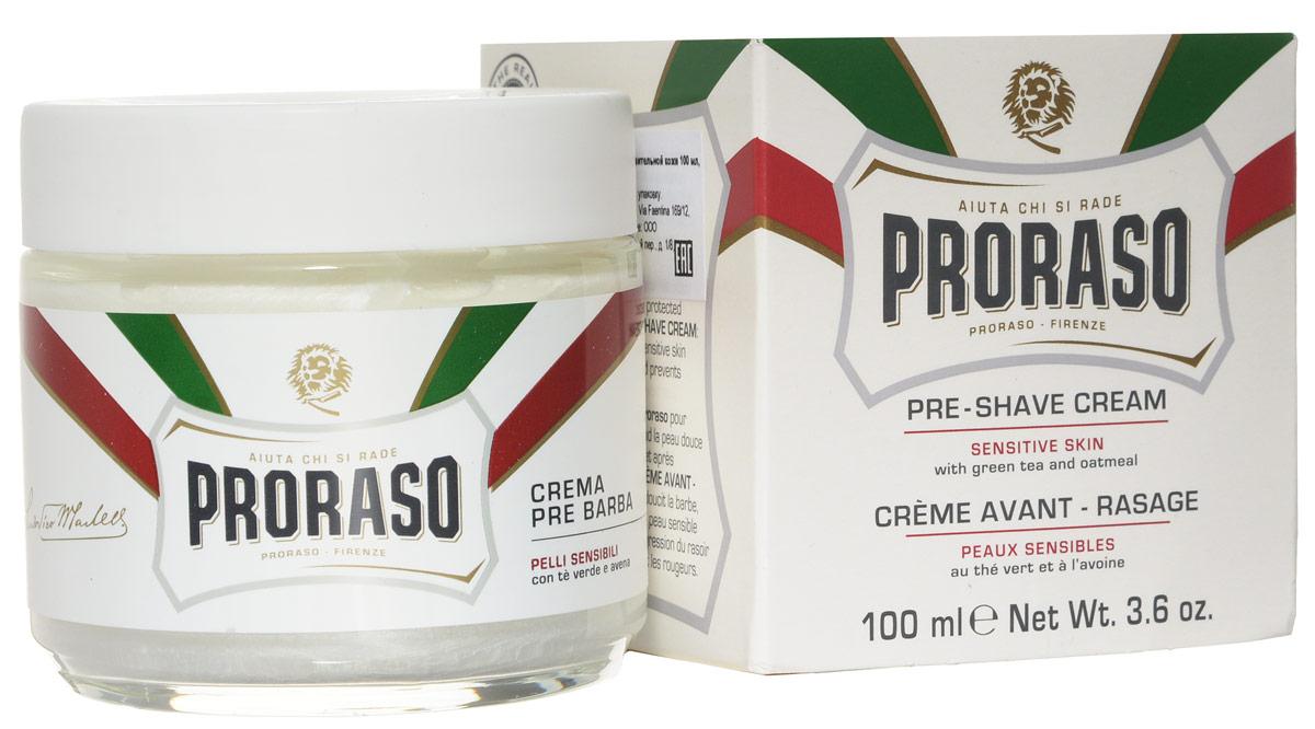 Proraso Крем до бритья для чувствительной кожи 100 мл401941Крем до бритья для чувствительной кожи для подготовки кожи к бритью (pre-shave) имеет плотную концентрированную текстуру, которая делает кожу эластичной, а бритье легким и безопасным. Подходит для нормальной кожи и любого типа щетины.