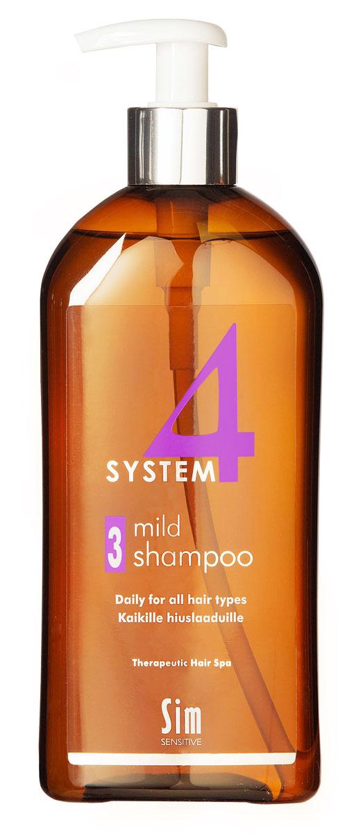 SIM SENSITIVE Терапевтический шампунь №3 SYSTEM 4 Mild Climbazole Shampoo 3 , 500 мл5313КАК РАБОТАЕТ:шампунь рекомендуется для чувствительной кожи головы. Сали-циловая кислота мягко очищает, климбазол и пироктон оламинвосстанавливают микрофлору кожи головы. Гидрогенол снимаетраздражение, увлажняет и защищает волосы от воздействия уль-трафиолетовых лучей. Ментол и розмарин способствуют улучше-нию питания волосяного фолликула за счет своих стимулирующихи дезинфицирующих свойств. рН-4,7. Успокаивает кожу головыпосле окрашивания.БОРЕТСЯ С:раздражениемкожи головы и с элементами перхотис чувствительностью кожи головырецедивами после курса лечения волос и кожи головы