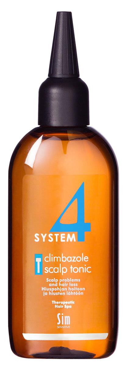 Sim Sensitive Терапевтический тоник Т SYSTEM 4 Climbazole Scalp Tonic Т, 100 мл sim sensitive восстановление волос r system 4 chitosan hair repair r 100 мл