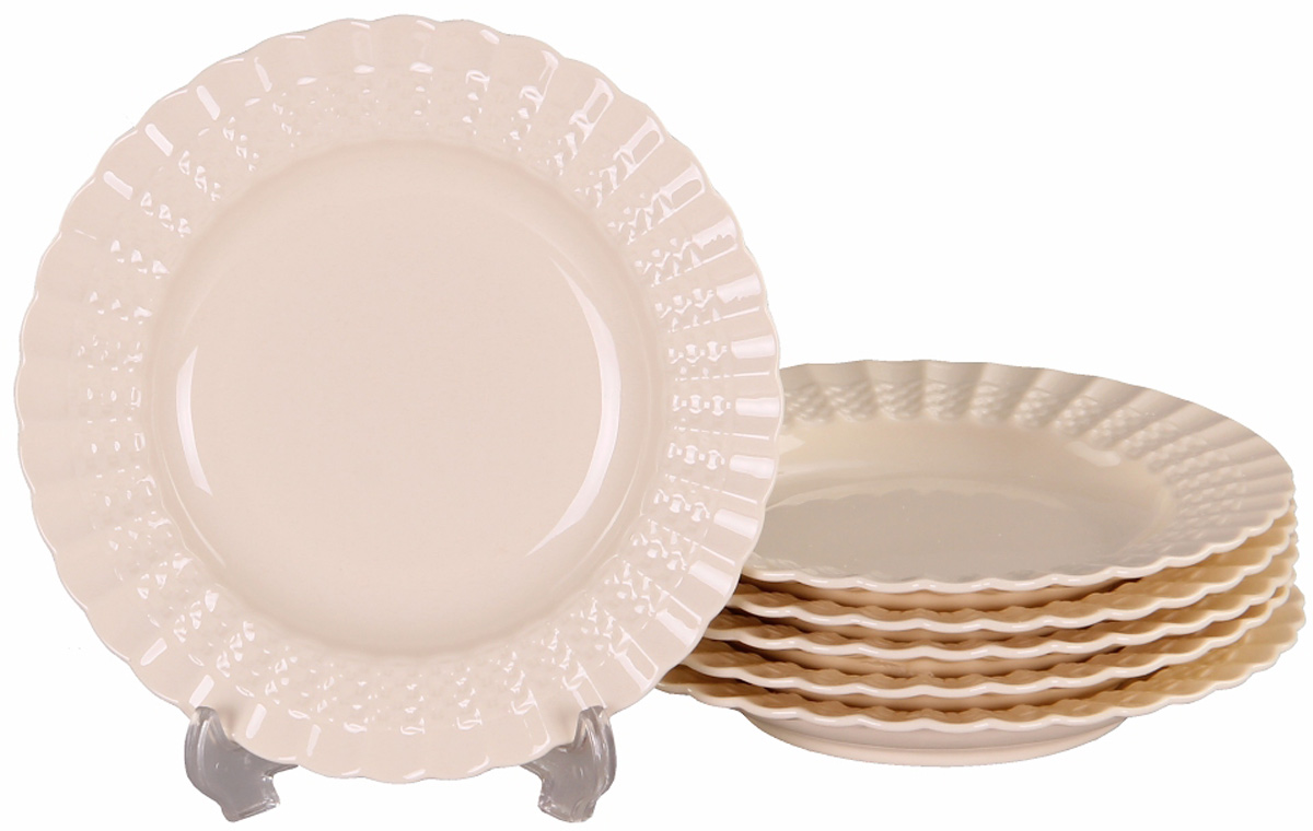Набор глубоких тарелок Patricia Грейс, диаметр 19 см, 6 шт patricia часы 19 15 32 см