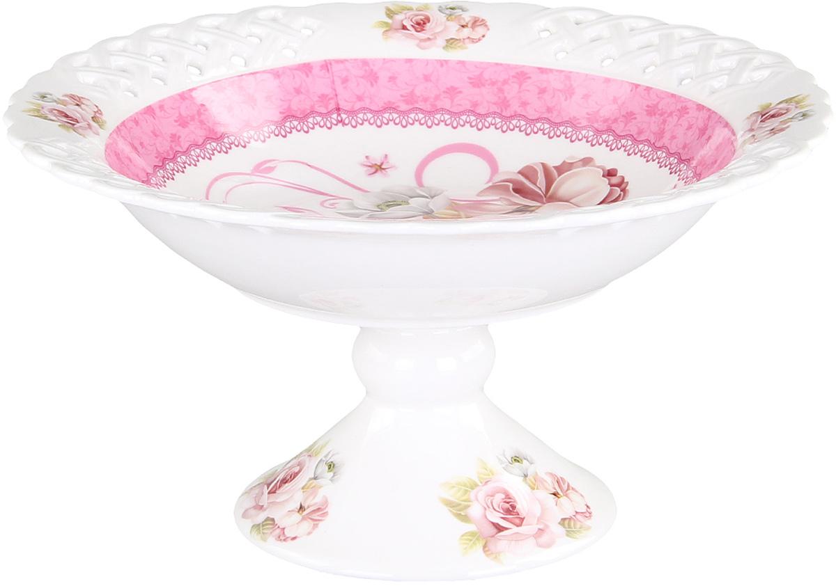 Конфетница Patricia, диаметр 30 см. IM56-0121IM56-0121Конфетница Patricia выполнена из фарфора. Изделие имеет сложную форму напоминающую распустившийся бутон цветка. Дно изделия украшено цветочным декором.Диаметр: 30 см.