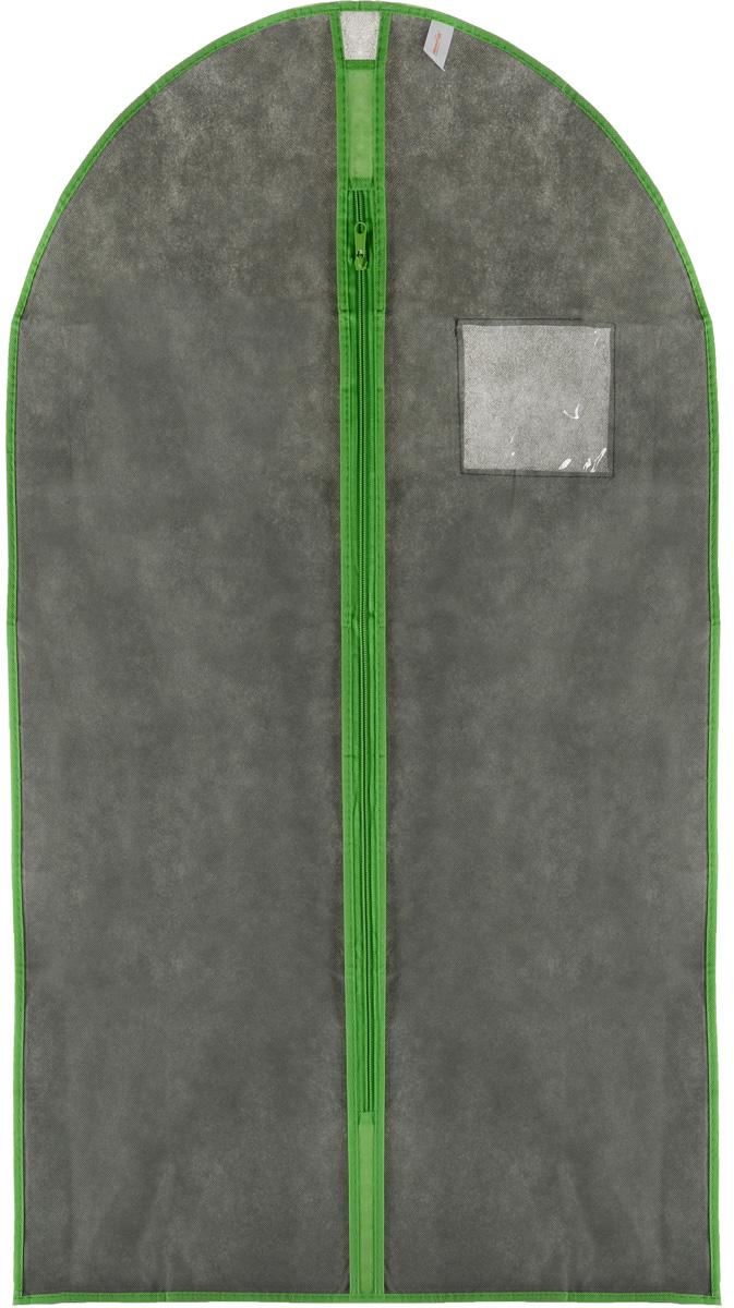 Чехол для одежды Хозяюшка Мила, тканевый, цвет: серый, светло-зеленый, 60 х 100 см47010_серыйЧехол для одежды Хозяюшка Мила изготовлен из вискозы и оснащен застежкой-молнией. Особое строение полотна создает естественную вентиляцию: материал дышит и позволяет воздуху свободно проникать внутрь чехла, не пропуская пыль. Прозрачное окошко позволяет увидеть, какие вещи находятся внутри. Чехол для одежды будет очень полезен при транспортировке вещей на близкие и дальние расстояния, при длительном хранении сезонной одежды, а также при ежедневном хранении вещей из деликатных тканей. Чехол для одежды Хозяюшка Мила защитит ваши вещи от повреждений, пыли, моли, влаги и загрязнений.