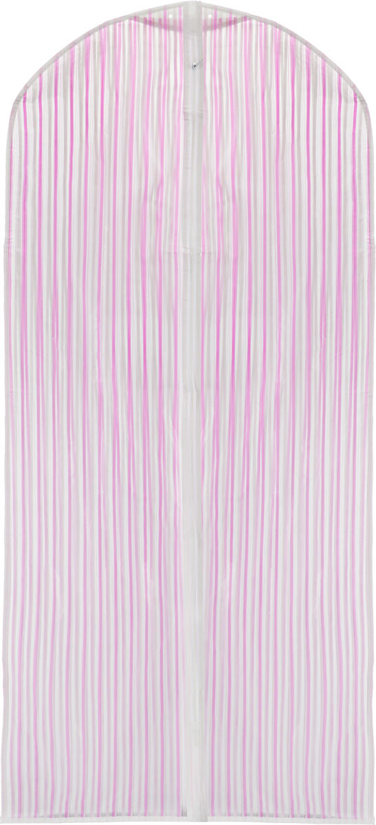 Чехол для одежды Eva, цвет: розовый, белый, 135 х 60 см. Е-16301Е-16301_розовыйПрочный водонепроницаемый чехол для одежды Eva выполнен из материала пэва (политиленвинилацетат). Изделие станет незаменимым приобретением для перевозки или хранения вещей. Чехол сохранит ваши вещи в отличном состоянии, а также не позволит вещам помяться. Изделие закрывается на застежку-молнию.Чехол для одежды Eva создаст уютную атмосферу в женском гардеробе. Лаконичный дизайн придется по вкусу ценительницам эстетичного хранения.Не содержит хлора.