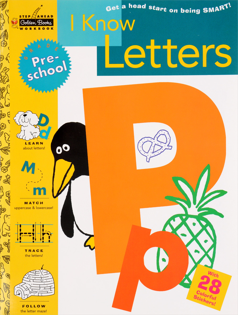 I Know Letters (With 28 Colorful Stickers) give me the child