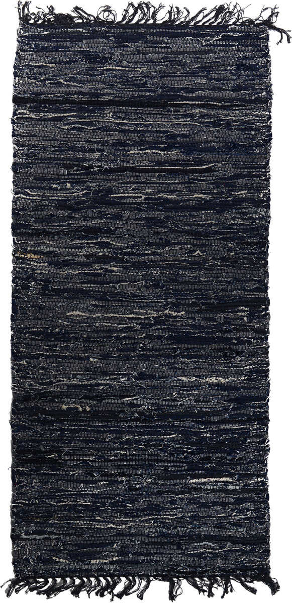 Коврик прикроватный Oriental Weavers Джинс, цвет: темно-синий, 80 x 140 см