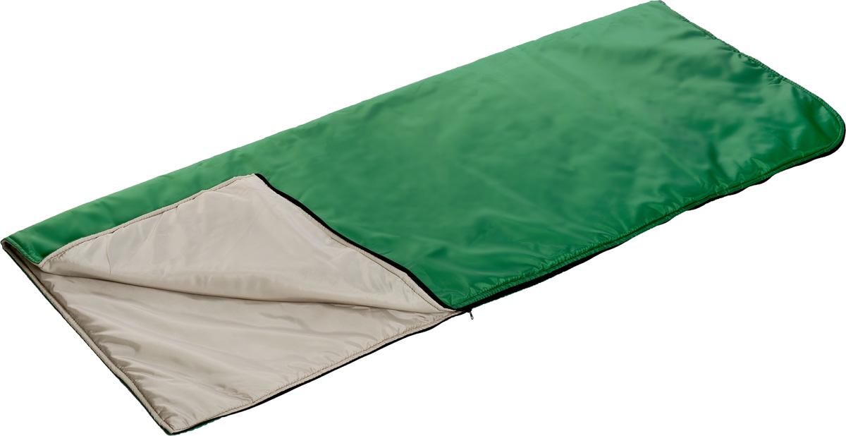 Мешок спальный Onlitop, правосторонняя молния, цвет: зеленый, 185 х 70 см спальный мешок onlitop престиж цвет черный бежевый правосторонняя молния 1344029