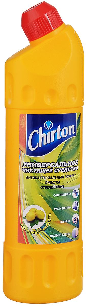 Средство чистящее Chirton Лимонная свежесть, универсальное, 750 мл44449/4-0507Универсальное чистящее средство Chirton Лимонная свежесть быстро и эффективно очищает от различных загрязнений раковины, ванны, унитазы, душевые кабины, керамическую плитку, любые твердые моющиеся напольные и настенные покрытия, кухонные плиты и другую бытовую технику. Обладает антибактериальным действием надолго обеззараживая обработанные поверхности. Отбеливает поверхности, устраняя серый налет, известковые отложения, мыльные потеки, плесень, жир и другие загрязнения. Подходит для чистки и антибактериальной обработки туалетных лотков для домашних животных. Придает очищенным поверхностям блеск и приятный свежий аромат.Товар сертифицирован.