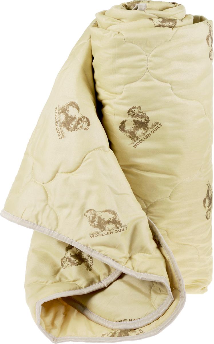 Одеяло Катюша, наполнитель: овечья шерсть, 145 х 205 смПОШ15150Одеяло Катюша подарит уютный и комфортный сон. Чехол, выполненный из 100% полиэстера, оформлен фигурной стежкой и надежно удерживает наполнитель внутри. Одеяло с овечьей шерстью может использоваться в теплое время года, а также в отапливаемых помещениях. Это стеганое одеяло содержит небольшое количество легкого и упругого наполнителя, между волокнами которого образуются воздушные прослойки. Благодаря этому одеяло позволяет телу дышать и не создает ощущения тяжести. Гигроскопичность овечьей шерсти позволяет не беспокоиться о чрезмерном потоотделении даже в жаркие ночи: шерсть быстро поглощает влагу и выводит ее на поверхность одеяла.