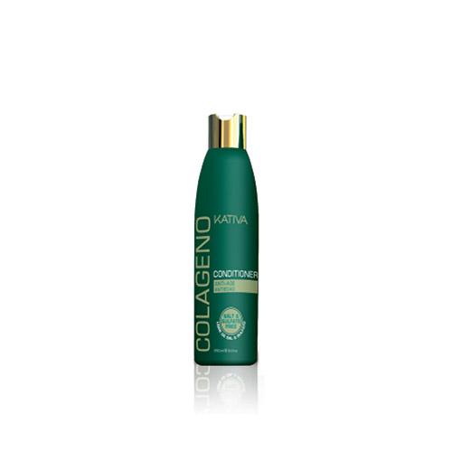 Kativa Коллагеновый кондиционер для всех типов волос COLAGENO, 250 мл1213Восстанавливающий кондиционер для всех типов волос увлажняет волосы, укрепляет их изнутри, делая более гладкими, шелковистыми и сияющими. Кондиционер рекомендуется применять с шампунем Kativa.Восстанавливает естественную увлажненность волос, наполняет внутреннюю структуру волоса кератином. Покрывает поверхность волоса воздухопроницаемой коллагеновой защитой, придает блеск и шелковистую гладкость волосам. Не содержит соли и сульфатов.