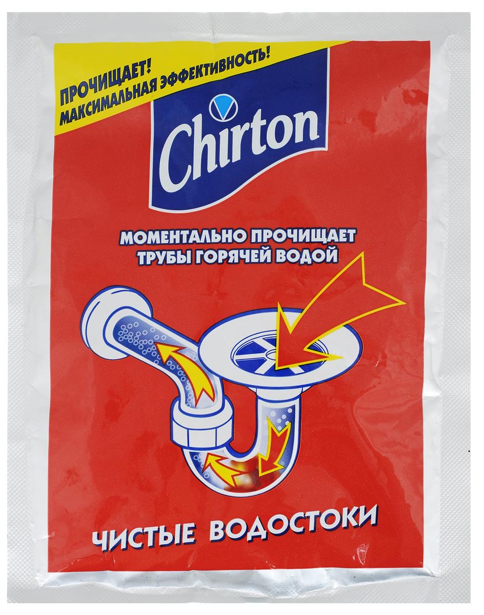 Cредство для прочистки труб горячей водой Chirton, 80 г50226Средство Chirton быстро и эффективно устраняет засоры сливных сифонов и труб от окиси, ржавчины и грязи. Максимально эффективно в горячей воде. Не причиняет вреда полимерным материалам. Применяется для дезинфекции и устранения неприятных запахов. Может применяться для профилактики возникновения загрязнений и засоров раковин, моек, ванн и унитазов.Товар сертифицирован.