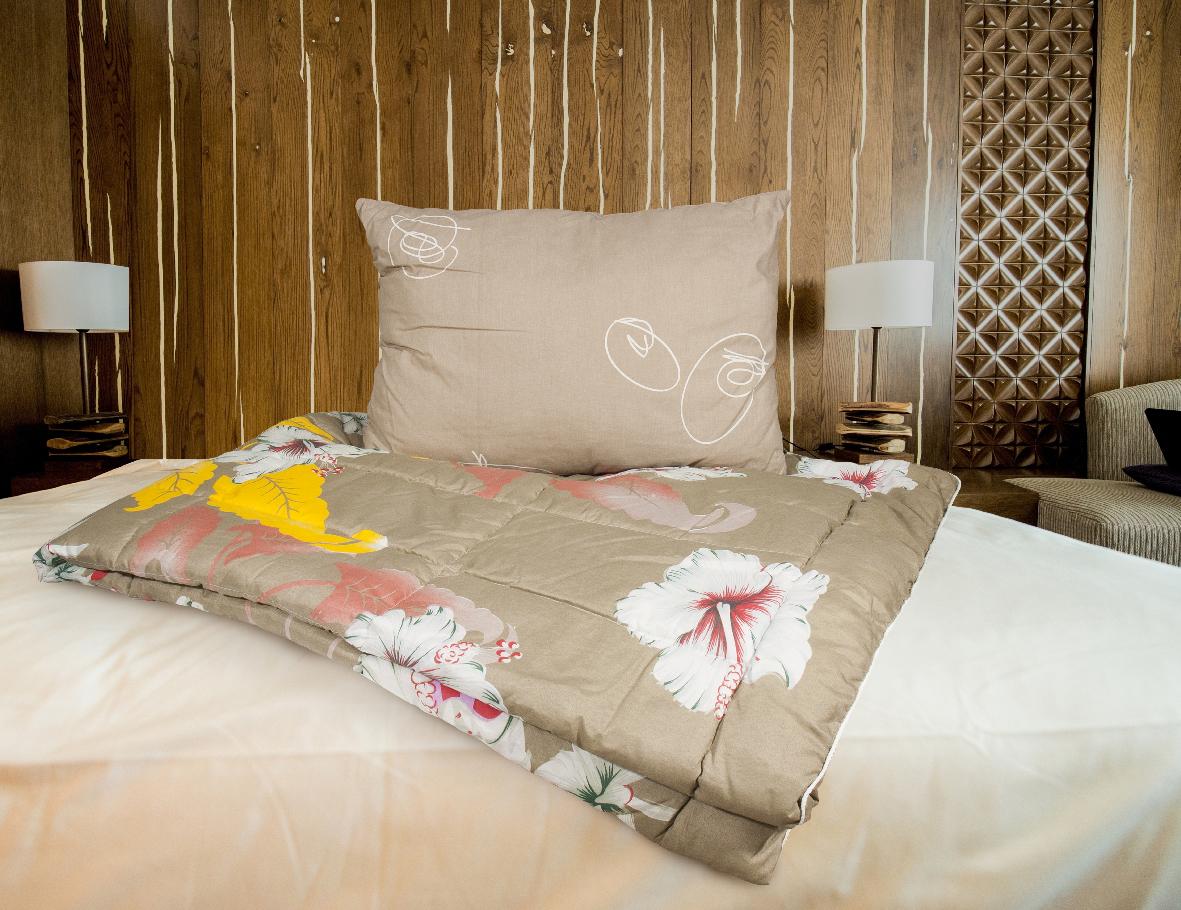 Набор для сна Прогресс-оптим Дачный: одеяло, подушка174065;174065Набор для сна Прогресс-оптим Дачный состоит из легкого летнего одеяла, чехол которого выполнен из полиэстера, наполнитель Airsoft (эллипсообразное полиэстеровое волокно), и подушки.Размер одеяла: 140 х 205 см.