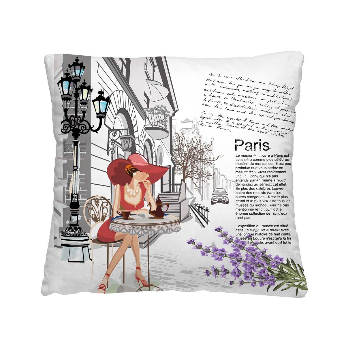 Подушка декоративная Волшебная ночь Кафе в Париже, 40 х 40 см195635Одной из задач, которую решают подушки, является создание яркости и цветности в интерьере. Также изделия создают особую домашнюю атмосферу и уют. Конструкция декоративной подушки - практичная, удобная в эксплуатации и уходе.Особенности изделия: - Съёмный чехол на молнии; - Наполнитель в индивидуальной наволочке; - Оборотная сторона из стёганого полотна для улучшения формоустойчивостиРазмер: 40 x 40 см. Ткань чехла - полиэстер 100%. Наполнитель - мягкое и объёмное волокно из полиэстера 100%. Упаковка - Стильная упаковка с zip застёжкой.