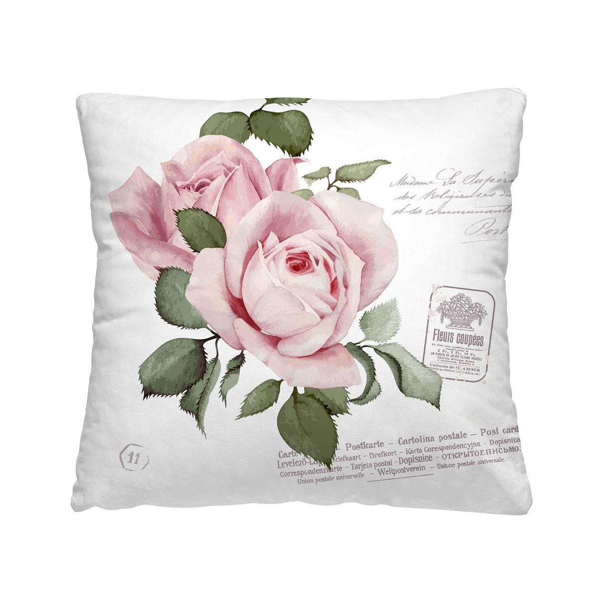 Подушка декоративная Волшебная ночь Розовый бутон, 40 х 40 см подушка декоративная волшебная ночь красные тюльпаны 40 х 40 см