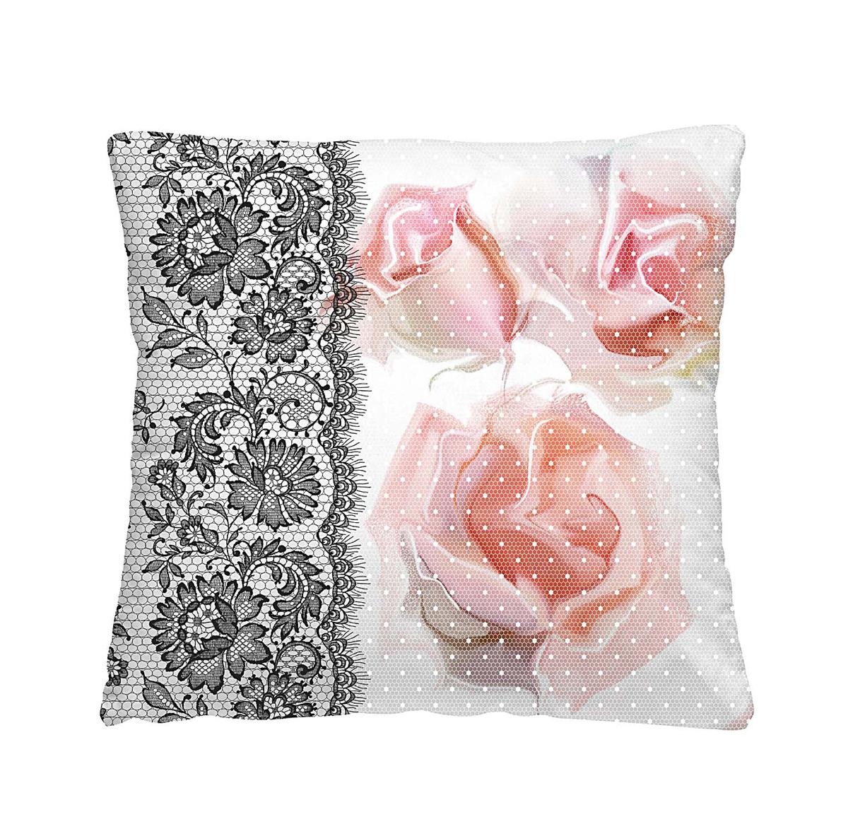 Подушка декоративная Волшебная ночь Ажурные розы, 40 х 40 см подушка декоративная волшебная ночь красные тюльпаны 40 х 40 см