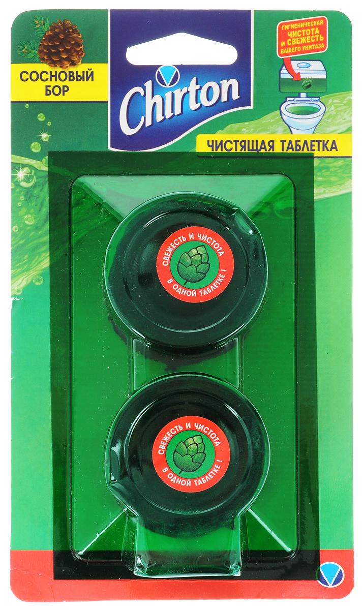 Таблетки чистящие для унитаза Chirton Сосновый бор, 50 г, 2 шт таблетка чистящая для унитаза chirton сосновый бор 50 г