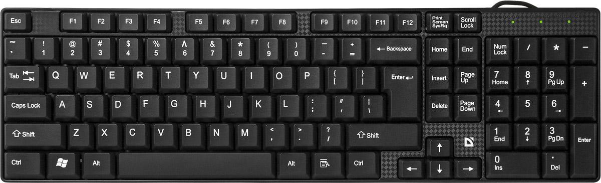 Defender Accent SB-720 RU, Black проводная клавиатура45720Неприхотливая, надежная и легкая в использовании клавиатура Defender Accent SB-720 RU оснащена классической печатной раскладкой влагоустойчивым корпусом, а также надежным мембранным механизмом клавиш. Установка происходит автоматически после подключения устройства к вашему компьютеру. Угол наклона клавиатуры удобно регулируется с помощью ножек.