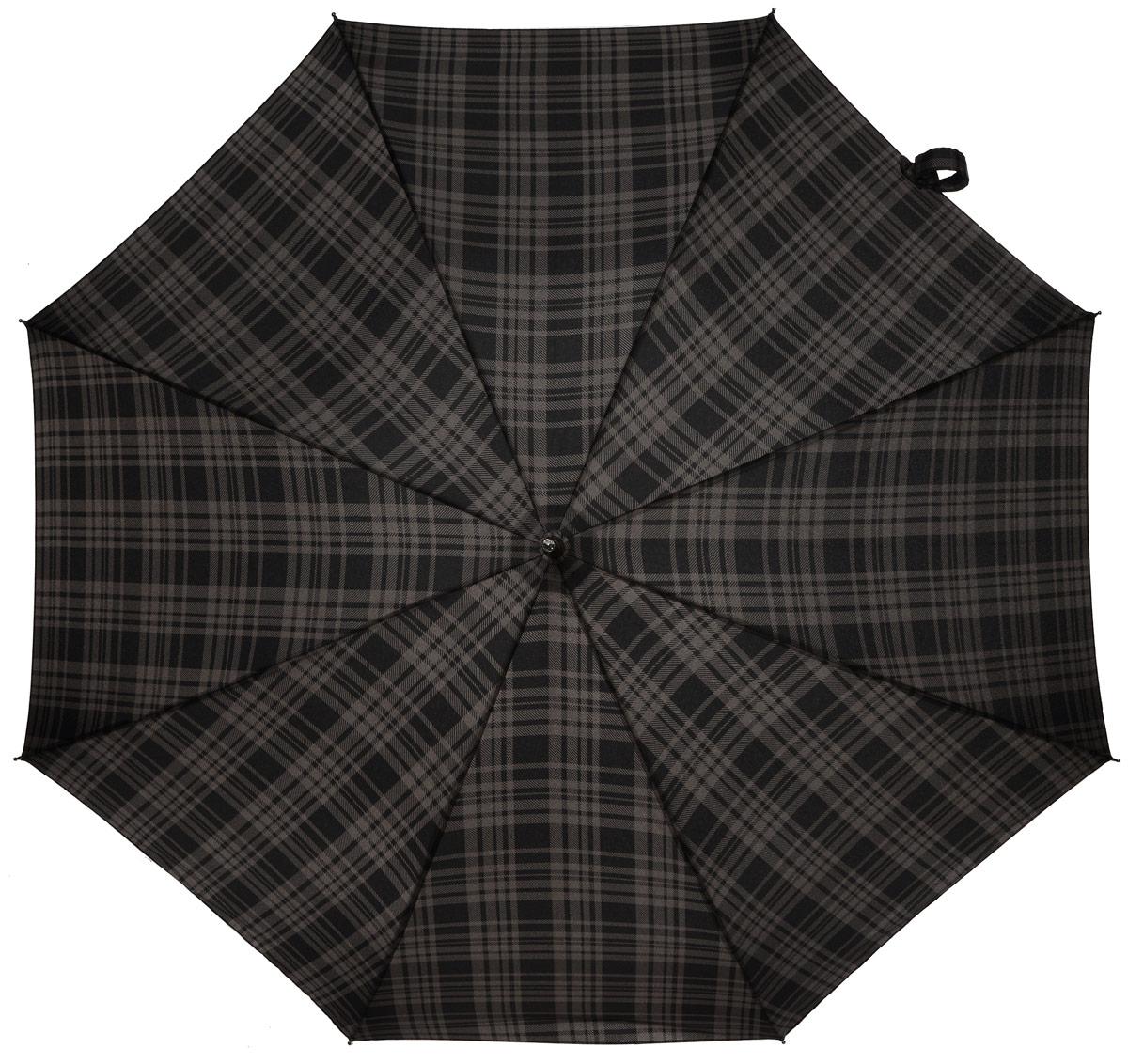 Зонт-трость мужской Fulton, автомат, цвет: черный, бежевый. G832-2839