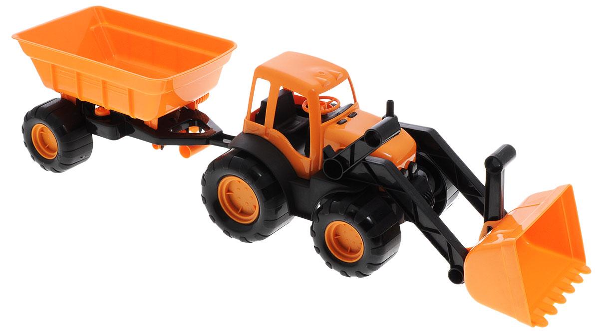 Zebratoys Трактор с ковшом и прицепом в ассортименте трактор с ковшом пламенный мотор зелёный от 6 лет пластик 87575