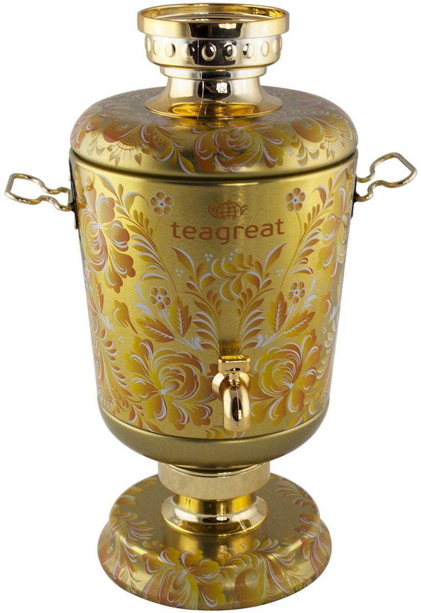 Самовар Золотой элитный ароматизированный листовой чай, 75 г керамический электрический самовар