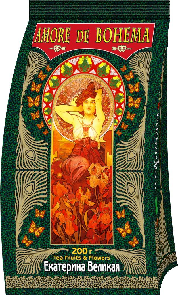 Amore de Bohema Екатерина Великая черный листовой чай, 200 г