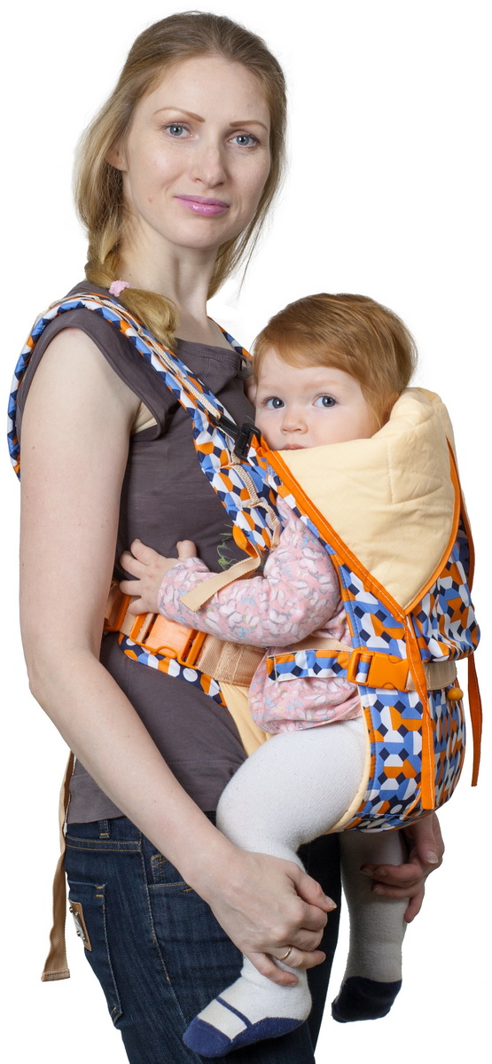 Чудо-Чадо Рюкзак-кенгуру BabyActive Choice цвет карнавал оранжевый