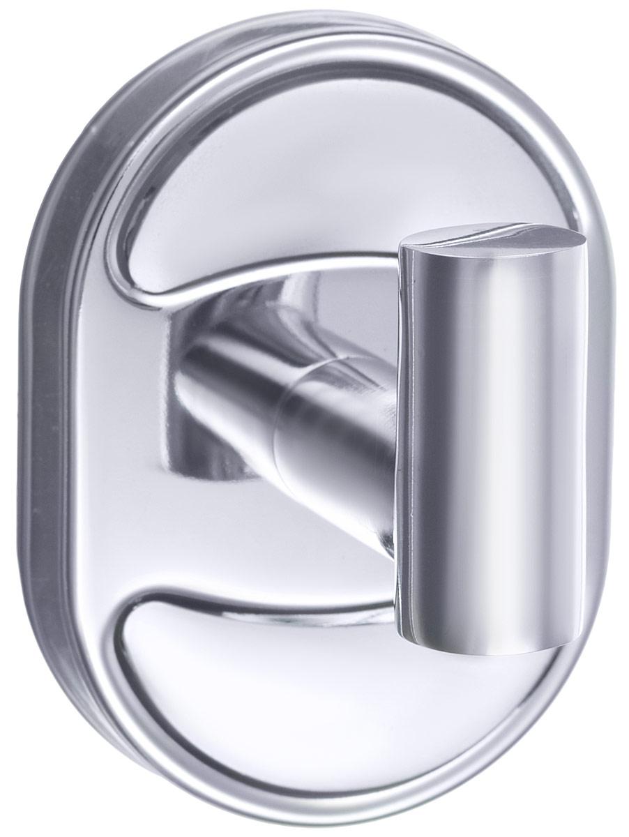 Крючок для халата РМС, цвет: хром. А5020А5020Крючок РМС предназначен для подвешивания халата, полотенца и многого другого в ванной комнате. Он выполнен из латуни. Хромированное покрытие придает изделию яркий металлический блеск и эстетичный внешний вид. Имеет водоотталкивающие свойства. Изделие устойчиво к кислотным и щелочным чистящим средствам. Крепится к стене при помощи шурупов (входят в комплект).