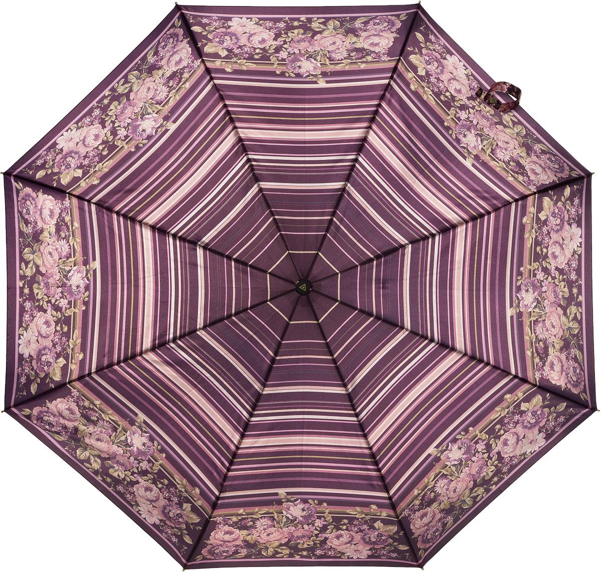 Зонт женский Fabretti, полный автомат, 3 сложения, цвет: мультиколор. S-16103-6