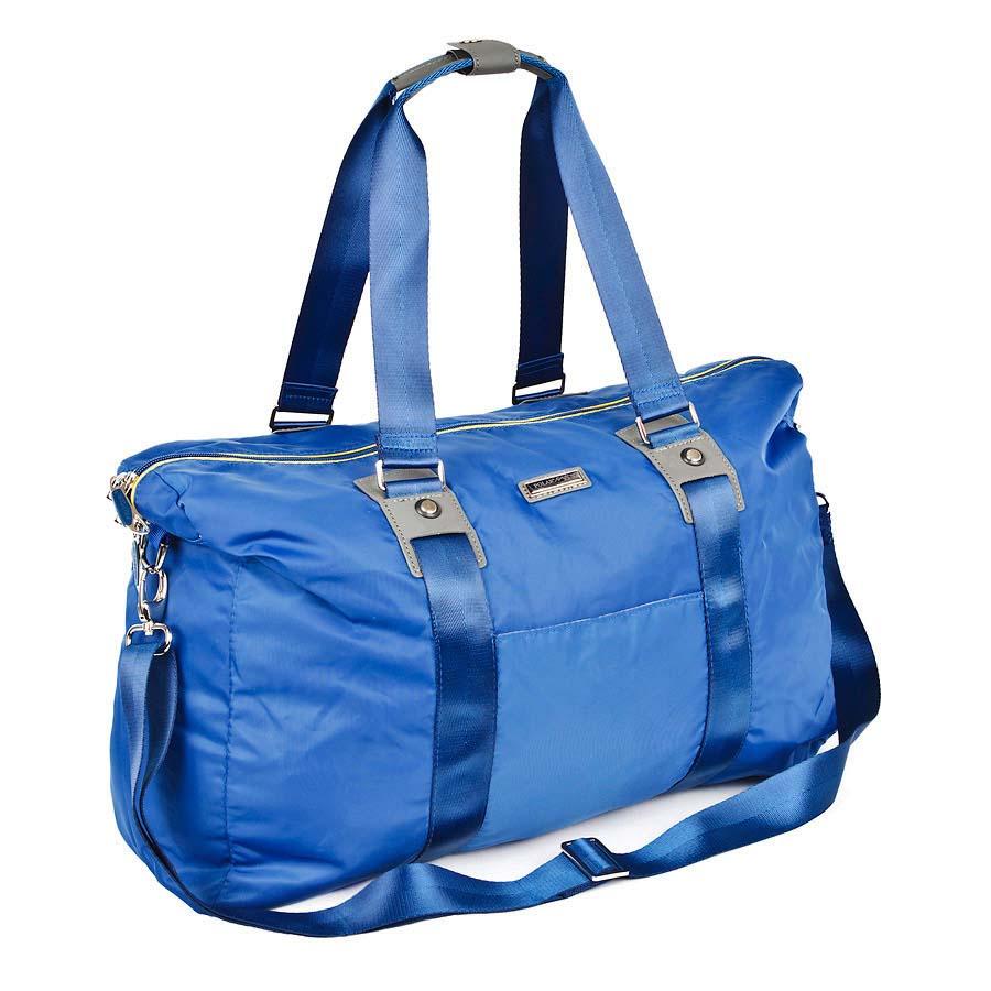 Сумка спортивная Polar, цвет: синий, 30,5 л. П1215-17П1215-17Спортивная сумка Polar выполнена из нейлона. Сумка имеет одно большое отделение, внутри которого расположены два открытых кармана для телефона и ключей, а также мелких принадлежностей. Изделие оснащено двумя удобными текстильными ручками и съемным плечевым ремнем.