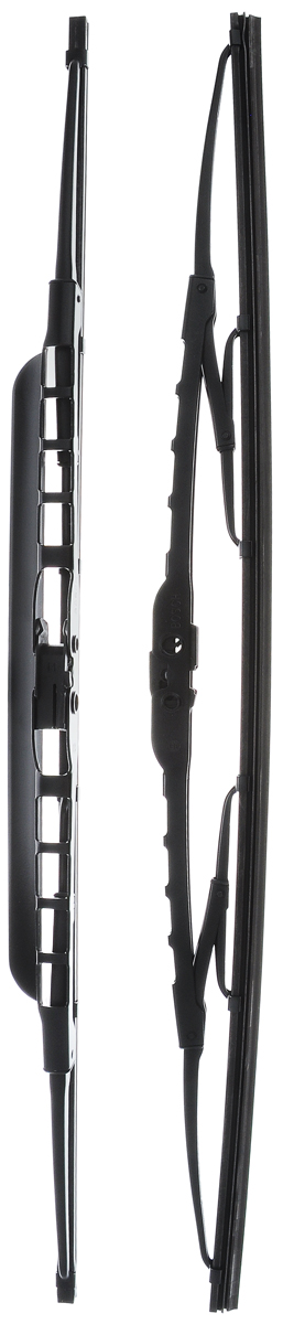 Щетка стеклоочистителя Bosch 500S, каркасная, со спойлером, длина 50 см, 2 шт3397118561Щетка Bosch 500S, выполненная по современной технологии из высококачественных материалов, оптимально подходит для замены оригинальных щеток, установленных на конвейере. Обеспечивает идеальную очистку стекла в любую погоду.Комплектация: 2 шт.TWIN Spoiler - серия классических каркасных щеток со спойлером от компании Bosch. Эти щетки имеют полностью металлический каркас с двойной защитой от коррозии и сверхточный профиль резинового элемента с двумя чистящими кромками. Спойлер, выполненный в виде крыла, закрывает каркас щетки от воздушного потока.