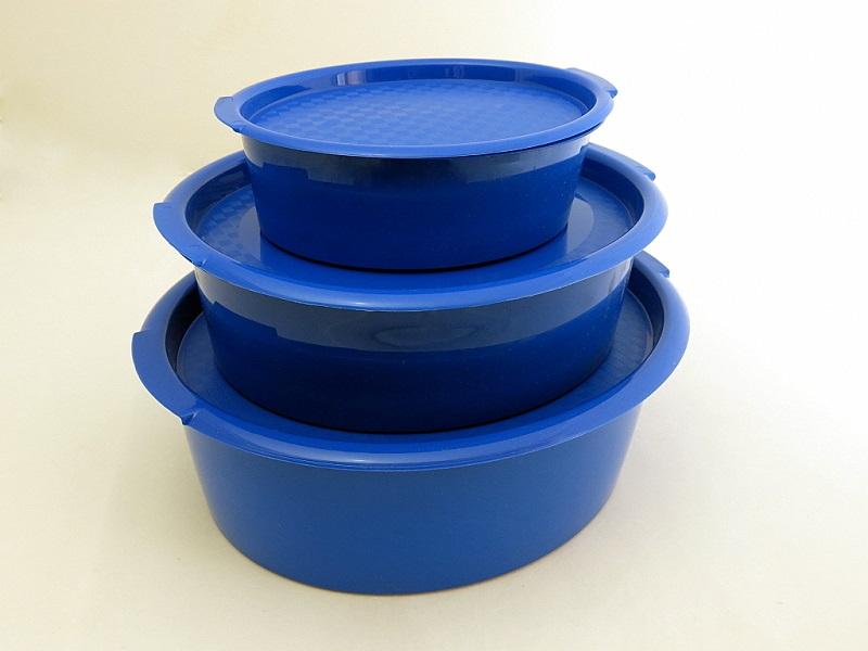 Набор пищевых контейнеров Solaris, цвет: синий, 3 шт