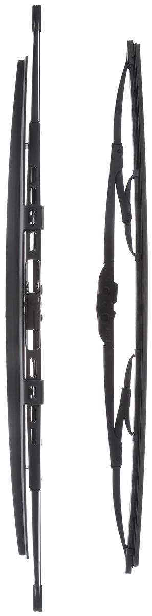 Щетка стеклоочистителя Bosch 728S, каркасная, со спойлером, длина 47,5/55 см, 2 шт3397001728Комплект Bosch 728S состоит из двух щеток разной длины, выполненных по современной технологии из высококачественных материалов. Они обеспечивает идеальную очистку стекла в любую погоду.TWIN Spoiler - серия классических каркасных щеток со спойлером от компании Bosch. Эти щетки имеют полностью металлический каркас с двойной защитой от коррозии и сверхточный профиль резинового элемента с двумя чистящими кромками. Спойлер выполнен в виде крыла, который закрывает каркас щетки от воздушного потока.Комплектация: 2 шт.Длина щеток: 47,5 см; 55 см.