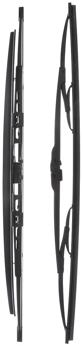 Щетка стеклоочистителя Bosch 530S, каркасная, со спойлером, длина 53 см, 2 шт3397118401Щетка Bosch 530S, выполненная по современной технологии из высококачественных материалов, оптимально подходит для замены оригинальных щеток, установленных на конвейере. Обеспечивает идеальную очистку стекла в любую погоду.TWIN Spoiler - серия классических каркасных щеток со спойлером. Эти щетки имеют полностью металлический каркас с двойной защитой от коррозии и сверхточный профиль резинового элемента с двумя чистящими кромками. Спойлер, выполненный в виде крыла, закрывает каркас щетки от воздушного потока.Комплектация: 2 шт.