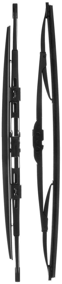 Щетка стеклоочистителя Bosch 450S, каркасная, со спойлером, длина 45 см, 2 шт щетка стеклоочистителя bosch ar813s бескаркасная со спойлером длина 65 45 см 2 шт