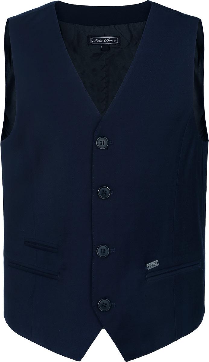 Жилет для мальчика Nota Bene, цвет: темно-синий. AW15BS364B-29. Размер 146