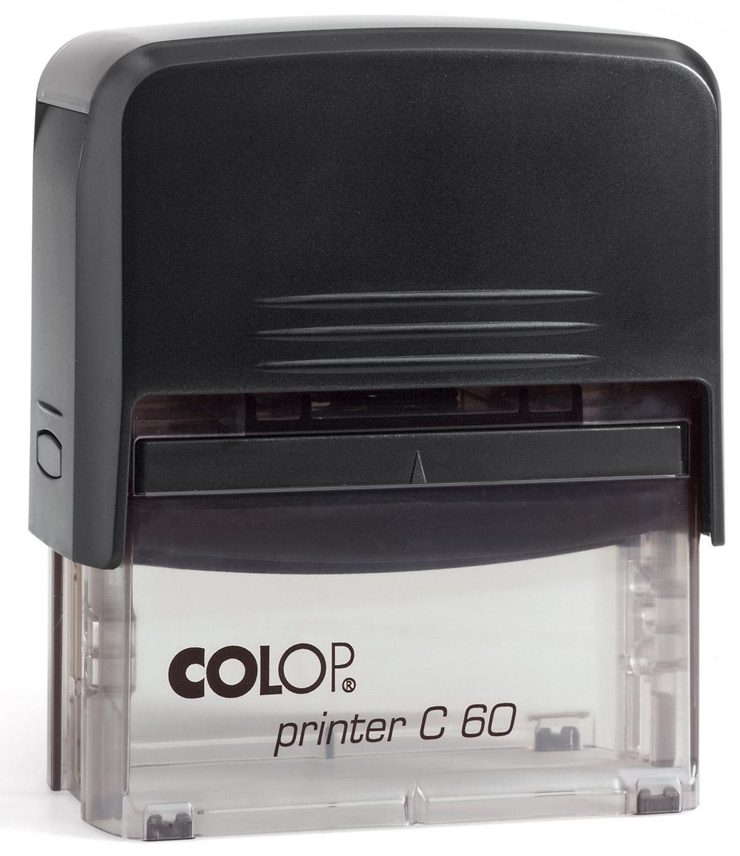 Colop Штамп самонаборный девятистрочный Printer C60 colop настольная штемпельная подушка цвет синий 90 х 160 мм