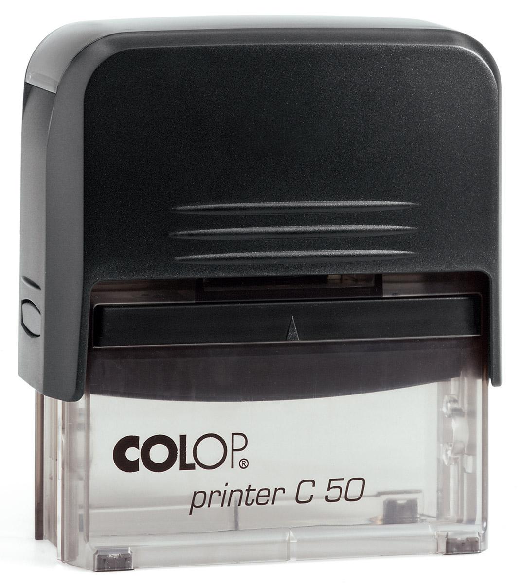 Colop Штамп самонаборный восьмистрочный Printer C50Printer50-SETСамонаборный восьмистрочный штамп Colop Printer C50 используется для самостоятельного набора и изменения текста. Крепление символов на одной ножке. Имеет рамку. Штампы, модифицированные рамкой, могут использоваться как с рамкой, так и без.Кол-во строк - 8 (6), кол-во знаков в строке - 43 (36)/30 (23). В комплекте пластиковый корпус с автоматическим окрашиванием, кассы букв Type Set A и Type Set B, сменная штемпельная подушка 30 мм х 69 мм (код С10898), пинцет.
