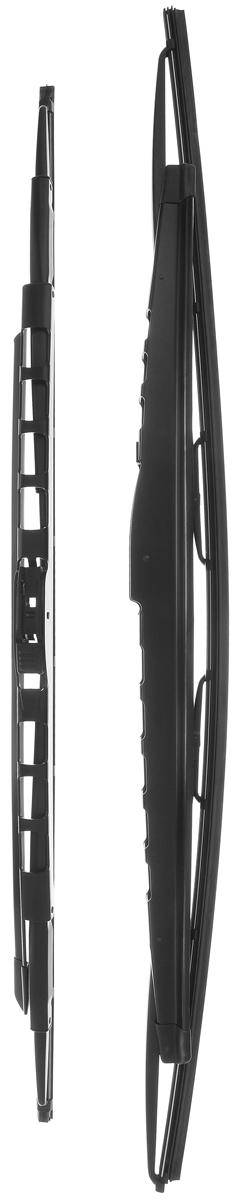 Щетка стеклоочистителя Bosch 359S, каркасная, со спойлером, длина 62,8/70,5 см, 2 шт3397001359Комплект Bosch 359S состоит из двух щеток разной длины, выполненных посовременной технологии извысококачественныхматериалов. Они обеспечивают идеальнуюочистку стекла в любую погоду. TWIN Spoiler - серия классических каркасных щеток со спойлером. Эти щеткиимеют полностью металлический каркас с двойной защитой от коррозии исверхточный профиль резинового элемента с двумя чистящими кромками.Спойлер, выполненный в виде крыла, закрывает каркас щетки отвоздушного потока.У данной модели спойлер предусмотрен на двух щетках стеклоочистителя.Комплектация: 2 шт. Длина щеток: 62,8 см; 70,5 см.