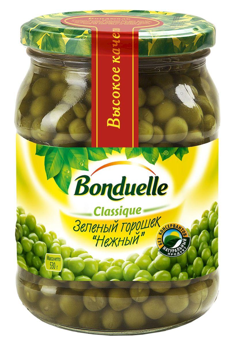 Bonduelle зеленый горошек Нежный, 530 г bonduelle фьюжн горошек зеленый по парижски 400 г