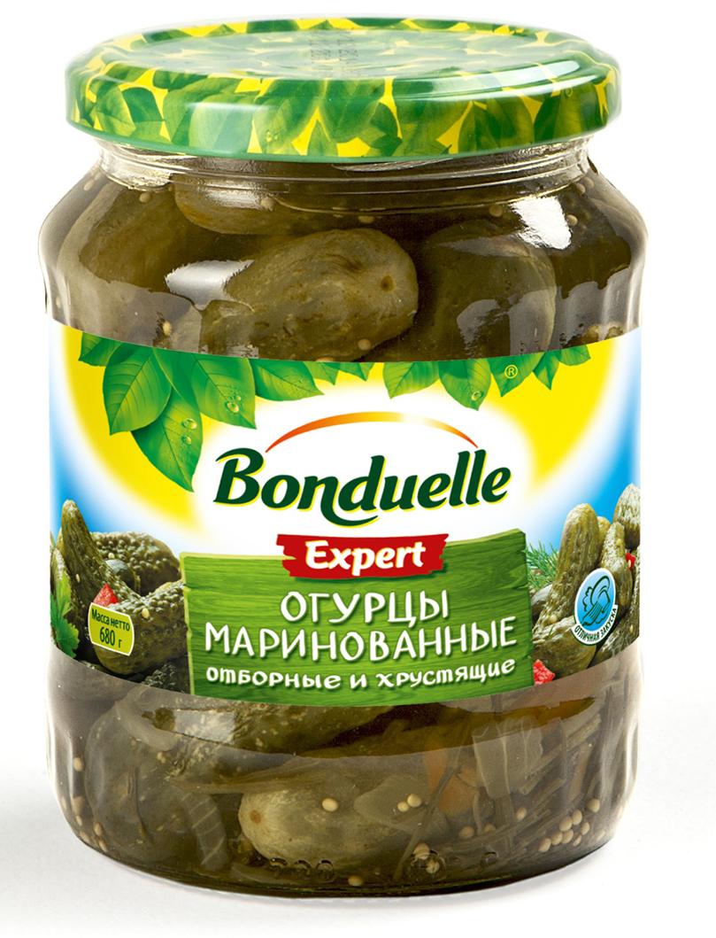 где купить  Bonduelle огурцы маринованные, 680 г  по лучшей цене