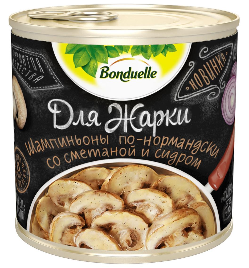 Bonduelle шампиньоны по-нормандски со сметаной и сидром Для жарки, 400 г баклажаны bonduelle fusion по тоскански