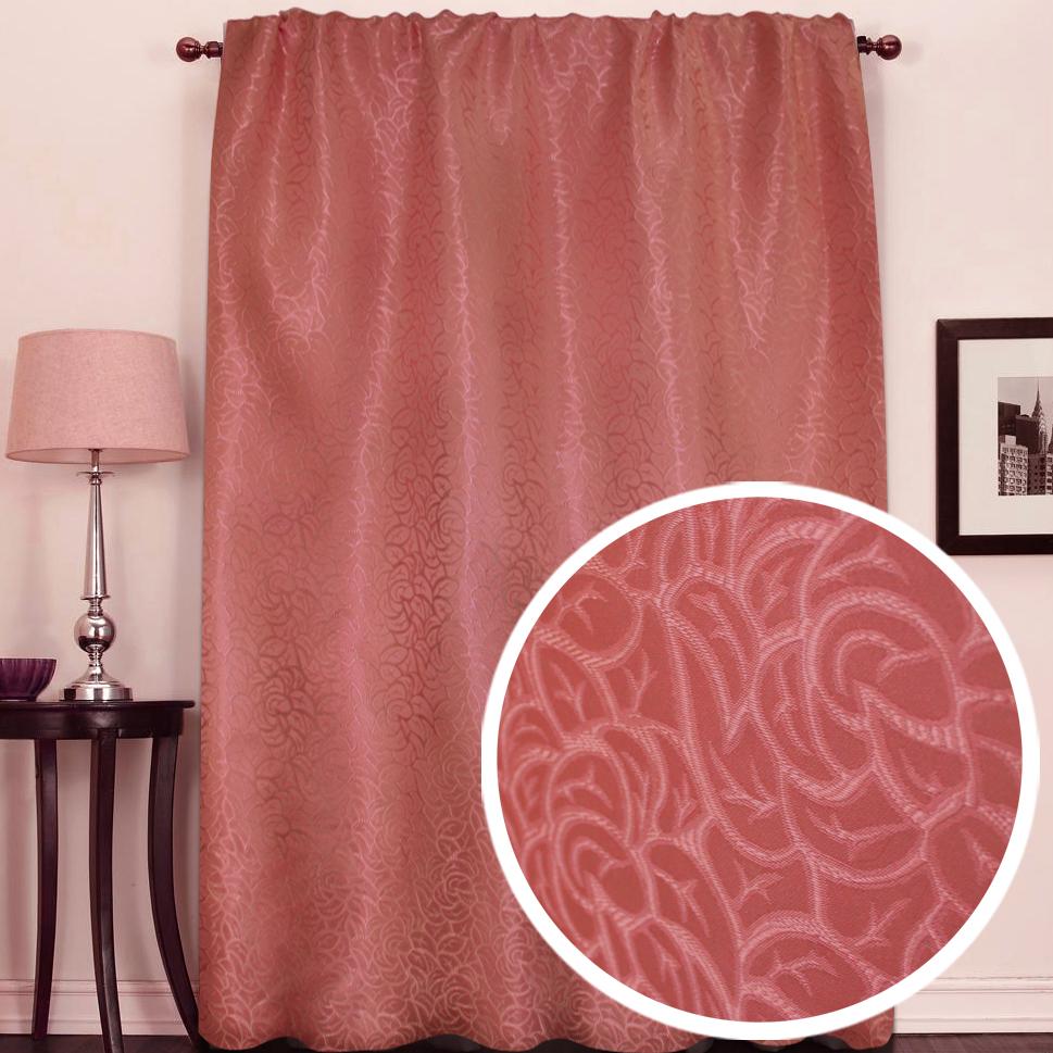 Портьера Amore Mio Розы, 145 х 270 см, цвет: терракотовый. 7532275322Однотонная портьера Amore Mio из жаккардовой ткани как будто состоит из множества роз. Изысканный рисунок в сочетании с благородный цветом украсят любое окно. Изделие на шторной ленте и готово к использованию.