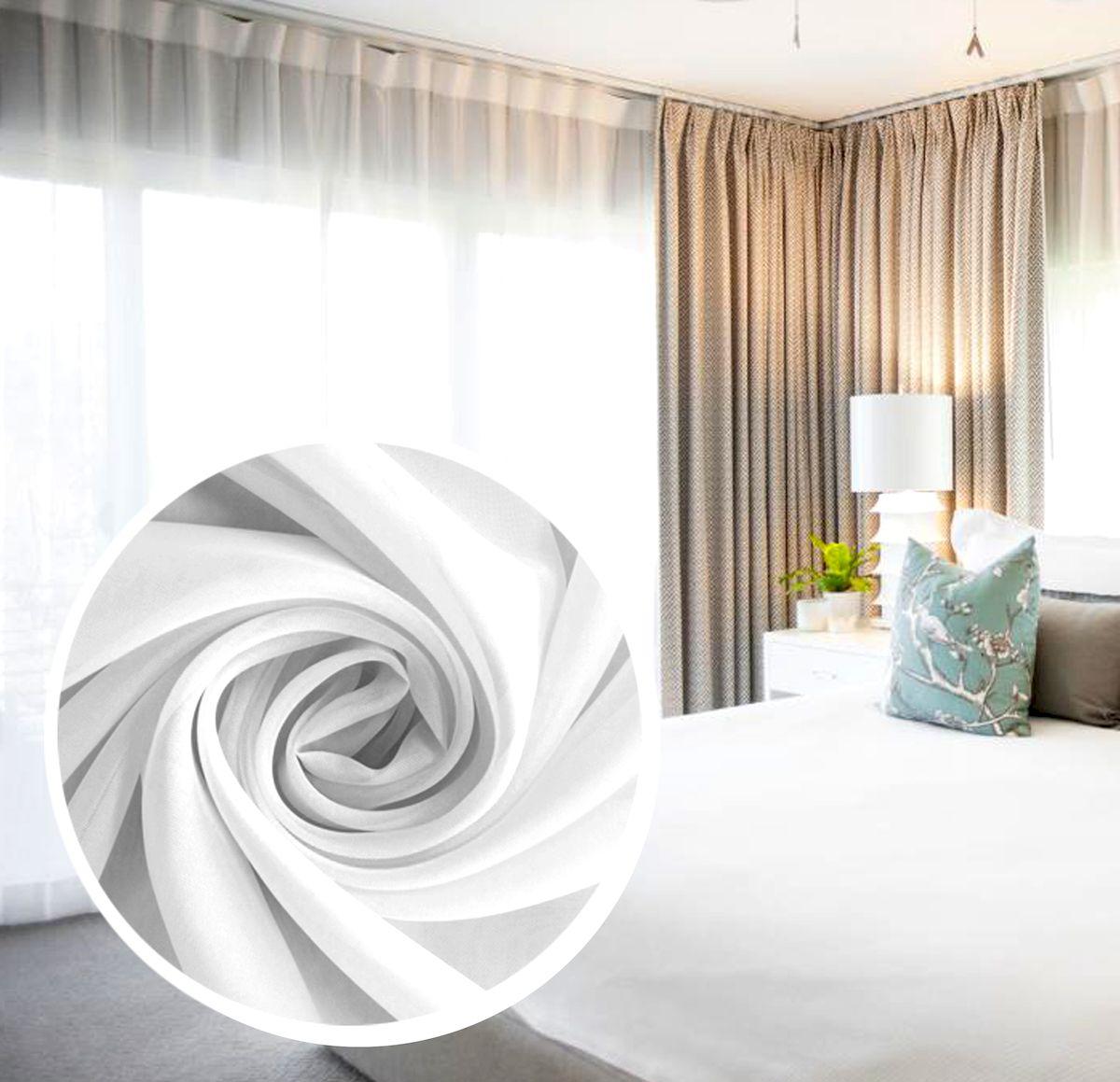 Вуаль Amore Mio Однотонная, на ленте, цвет: белый, высота 270 см. 7538275382Amore Mio - однотонная легкая вуаль нежного цвета в классическом исполнении, выполнена из полиэстера.Вуаль незаменимая деталь в оформлении окон спальни и гостиной. Она отлично сочетается практически с любыми портьерами. Изделие на шторной ленте, готово к использованию. Размер: 300 х 270 см.