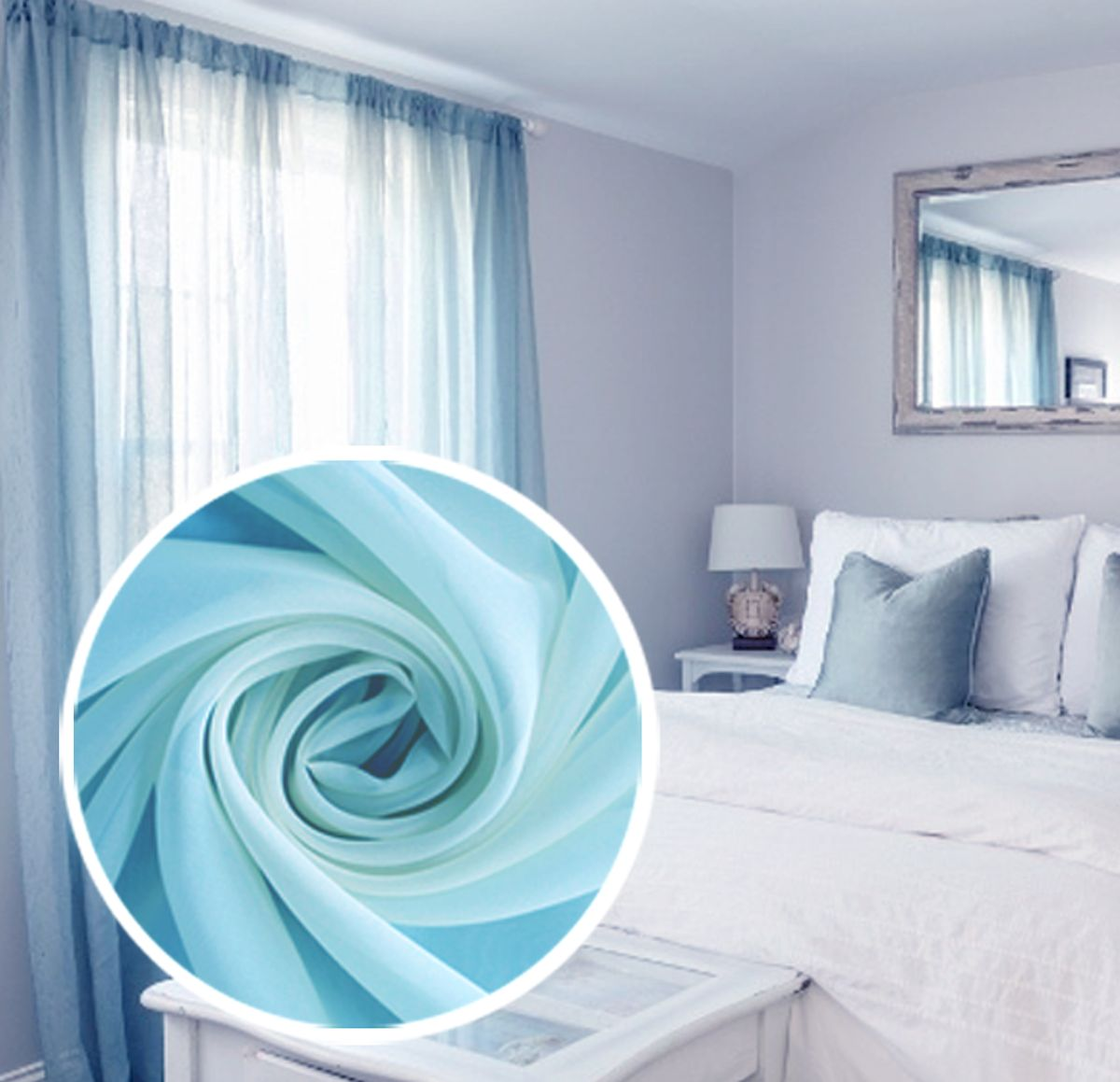 Тюль Amore Mio Однотонный, на ленте, цвет: голубой, высота 270 см77539Тюль Amore Mio нежного цвета в классическом однотонном исполнении изготовлен из 100% полиэстера. Воздушная ткань привлечет к себе внимание и идеально оформит интерьер любого помещения. Полиэстер - вид ткани, состоящий из полиэфирных волокон. Ткани из полиэстера легкие, прочные и износостойкие. Такие изделия не требуют специального ухода, не пылятся и почти не мнутся.Крепление к карнизу осуществляется при помощи вшитой шторной ленты.