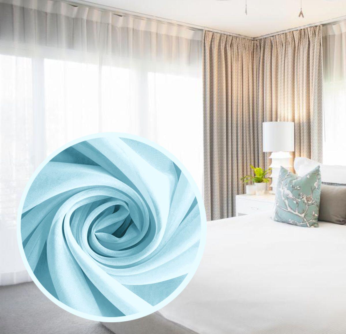 Вуаль Amore Mio Однотонная, на ленте, цвет: голубой, высота 290 см. 7856478564Amore Mio - однотонная легкая вуаль нежного цвета в классическом исполнении, выполнена из полиэстера.Вуаль незаменимая деталь в оформлении окон спальни и гостиной. Она отлично сочетается практически с любыми портьерами. Изделие на шторной ленте, готово к использованию. Размер: 600 х 290 см.