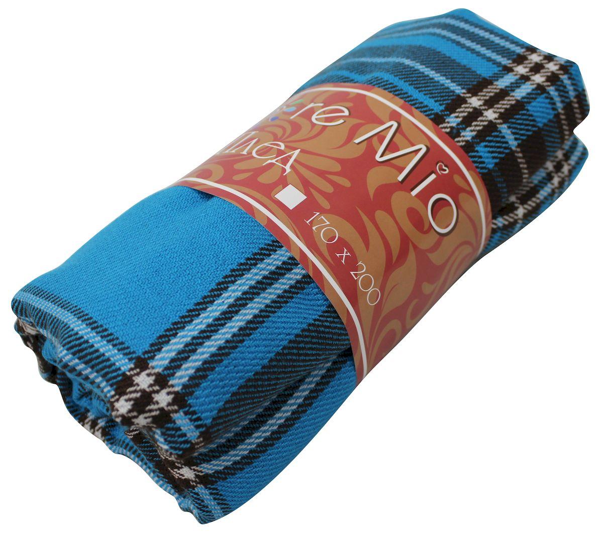 Плед Amore Mio Azure, 170 х 200 см78893Мягкий, теплый и уютный плед с кистями Amore Mio изготовлен из 100% акрила. Не зря в народе за акрилом закрепилось имя искусственной шерсти. Акриловое волокно великолепно удерживает тепло, оно практично и долговечно. Еще одно преимущество - в цене, так как по факту акрил значительно дешевле натуральной шерсти.