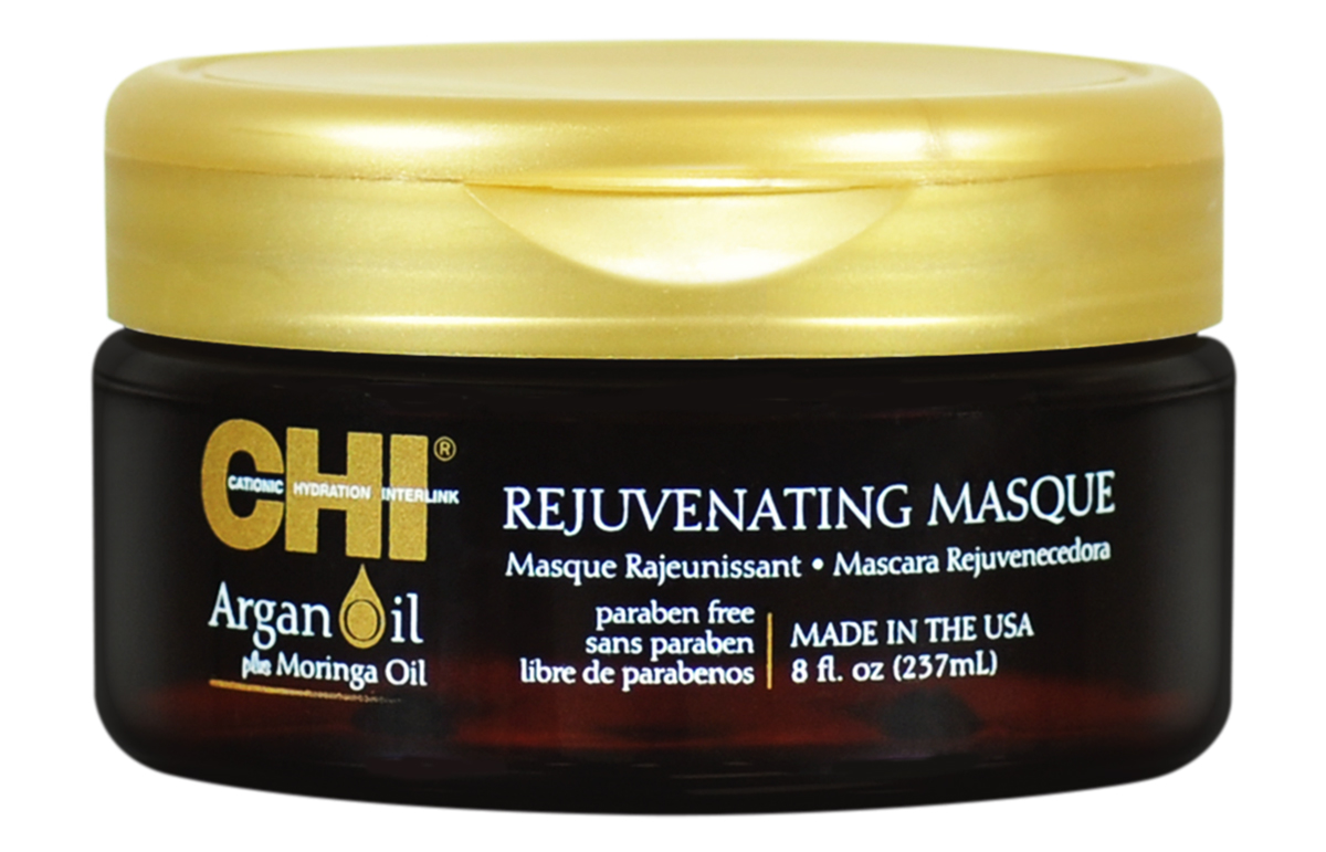 CHI Омолаживающая маска Argan Oil, 200млCHIAOM8Омолаживающая маска CHI Argan Oil глубоко питает и наполняет волосы необходимыми витаминами и антиоксидантами, которые восполняют баланс влаги, восстанавливают блеск и разглаживают волосы. Рекомендуется к использованию по мере необходимости. Маска CHI Argan Oil придает волосам здоровый вид, блеск и сияние. Обеспечивает питание поврежденных волос.