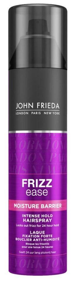 John Frieda Frizz-Ease Лак для волос сильной фиксации с защитой от влаги и атмосферных явлений, 250 млjf113330Надежно защищает кудрявые волосы и укладку от воздействия влажности на срок до 24 часов. Быстросохнущий лак сохранит самую сложную прическу и обеспечит устойчивый результат укладки до 24 часов в любую погоду, усмиряя самые непослушные вьющиеся и волнистые волосы. Лак сверхсильной фиксации создает барьер и предотвращает появление непослушных завитков после укладки на 24 часа, защищает от воздействия влаги и атмосферных явлений. Содержит Кератин и UV-фильтр. Применение: Перед использованием хорошо встряхните флакон. Держите его вертикально и распыляйте на расстоянии 25-30 см от волос, чтобы завершить и зафиксировать укладку. Характеристики:Объем: 250 мл. Производитель: Великобритания. Товар сертифицирован.