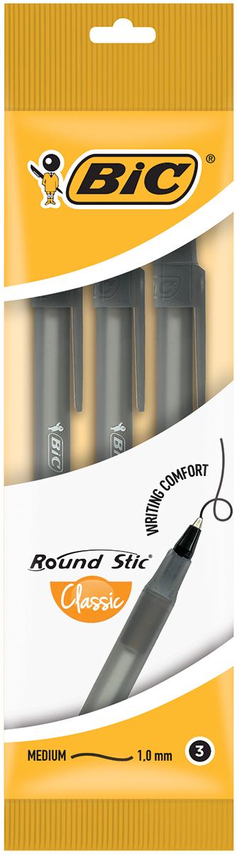 Bic Набор шариковых ручек Round Stick цвет чернил черный 3 штB9017721Набор шариковых ручек Bic Round Stick станет незаменимым атрибутом в учебе любого школьника и на работе.В наборе 3 шариковые ручки, цвет чернил - черный. Ручки имеют специальный вентилирующий колпачок и пишущий узел с уменьшенным шариком, обеспечивающий комфорт при письме.